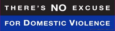 There's no excuse for domestic violence Bumper Sticker