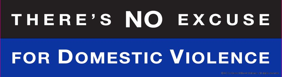 There's no excuse for domestic violence Bumper Sticker