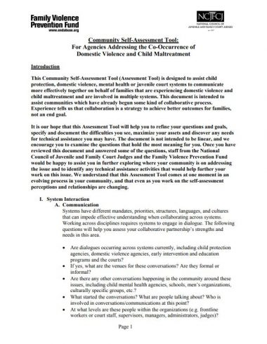 Community Self Assessment Tool Cover Img