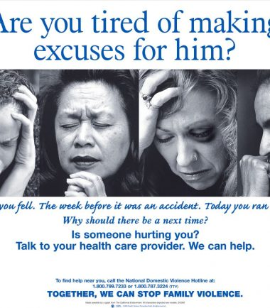 Are You Tired of Making Excuses for Him? Poster English