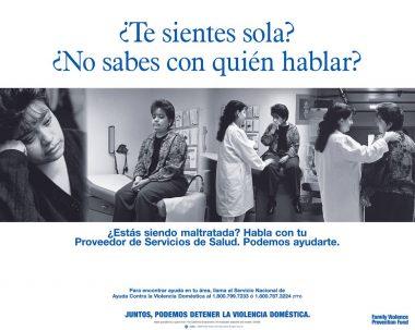 Te sientes sola? No sabes con quien hablar? Health Clinic Poster
