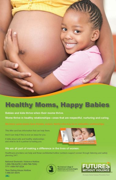 Healthy Moms, Happy Babies Poster - African American Mama