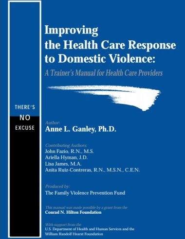 Improving the HC response to DV trainers manual cover img