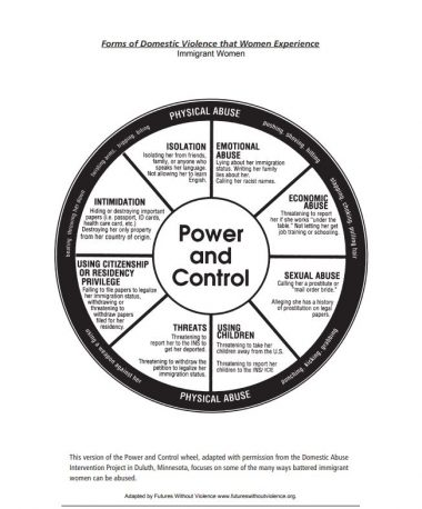 Power and Control Wheel Immigrant Women English Cover Img