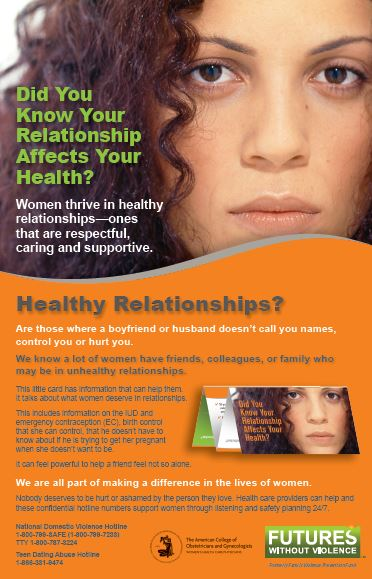 Did You Know Your Relationship Affects Your Health? Poster