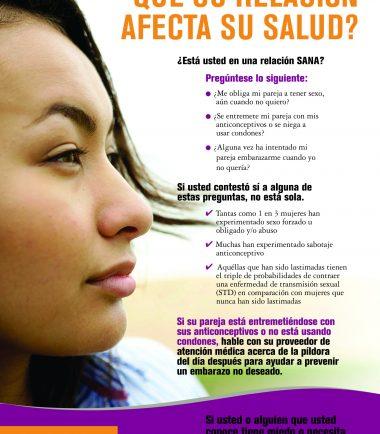 Sabia usted que su relacion afecta su salud? Poster