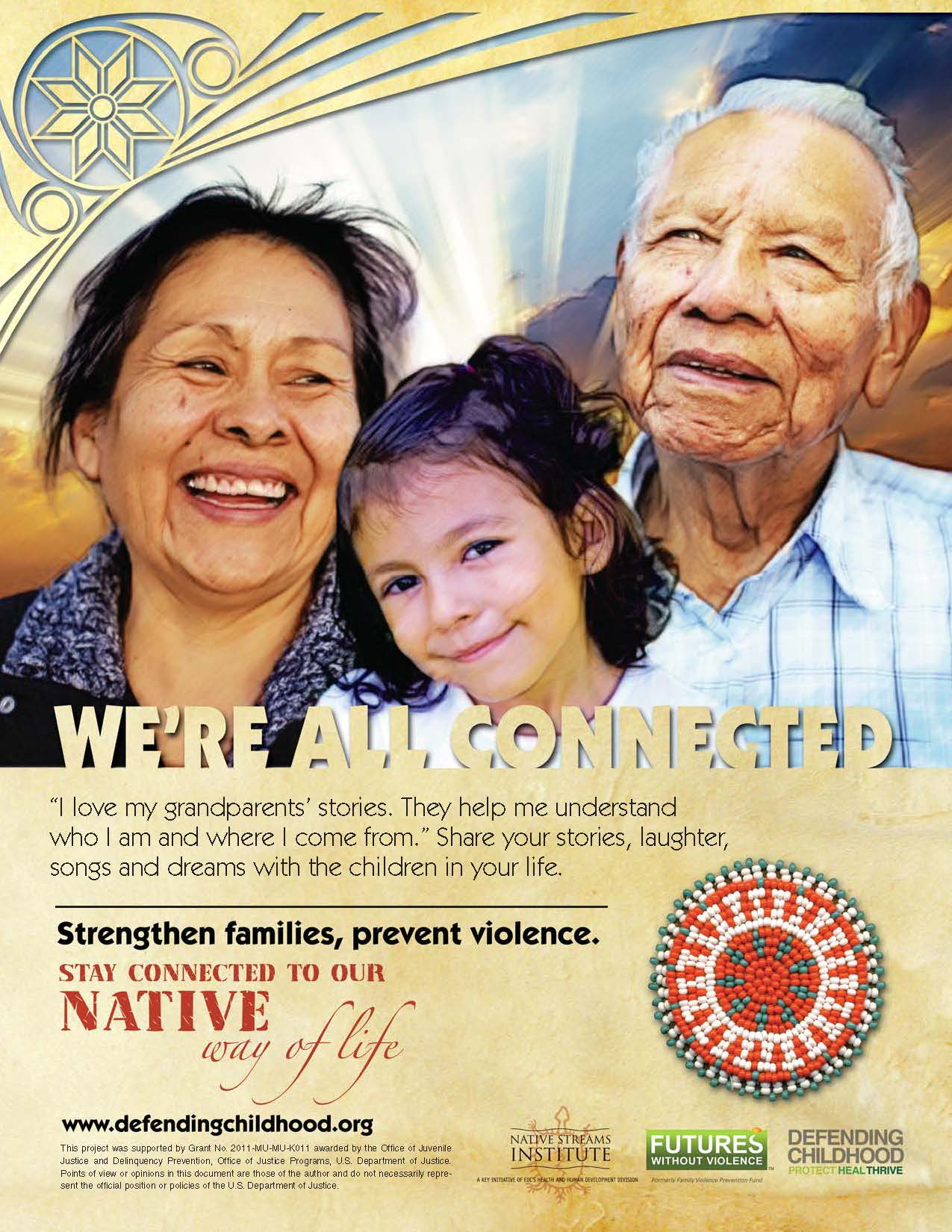 Strengthen Families, Prevent Violence Poster - Grandparents